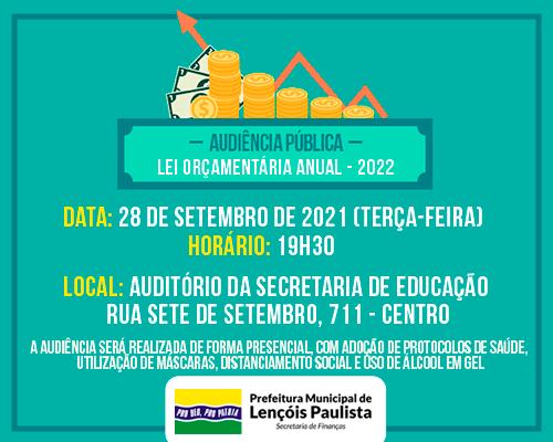 Audiência Pública Lei Orçamentária Anual 2022